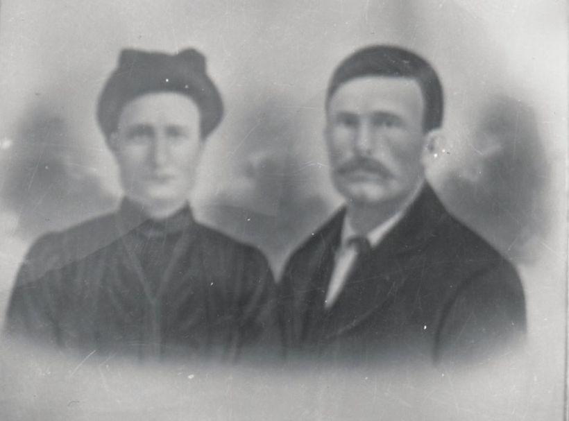 Marcel Coulombe et Victoria Brousseau. Source : Collection Marie-Ange Léonard.