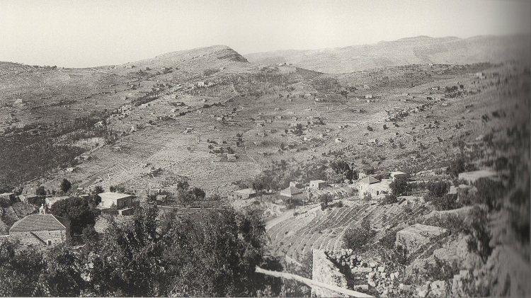 Paysage typique du Mont-Liban, 1920-1930. Source inconnue.